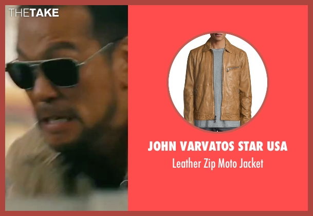 John Varvatos Star USA brown jacket from The Bourne Legacy seen with Louis Ozawa Changchien (LARX #3)