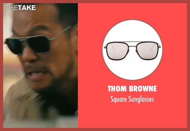 Thom Browne silver sunglasses from The Bourne Legacy seen with Louis Ozawa Changchien (LARX #3)
