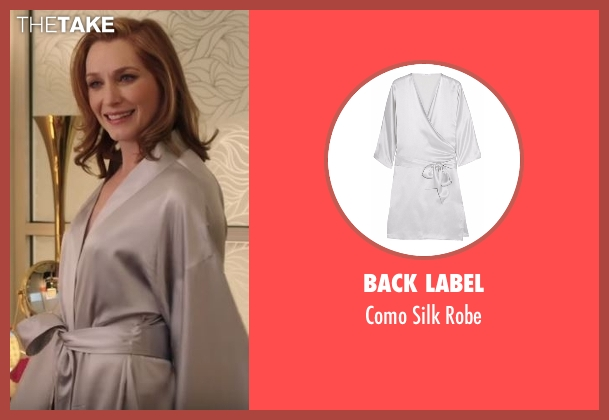 Back Label gray robe from Notorious seen with Louise Herrick (Kate Jennings Grant)