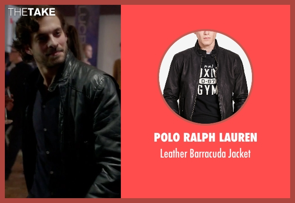 Polo Ralph Lauren black jacket from Guilt seen with Luc Pascal (Zachary Fall)