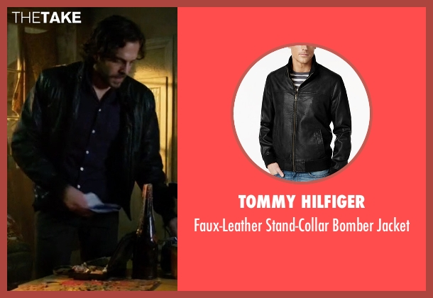 Tommy Hilfiger black jacket from Guilt seen with Luc Pascal (Zachary Fall)