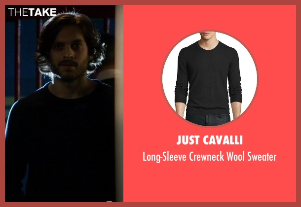 Just Cavalli black sweater from Guilt seen with Luc Pascal (Zachary Fall)