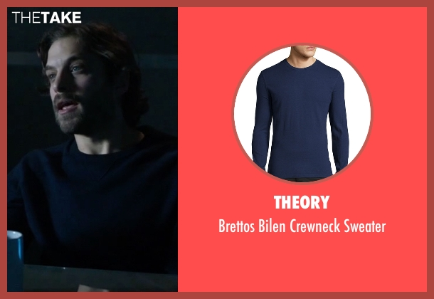 Theory blue sweater from Guilt seen with Luc Pascal (Zachary Fall)