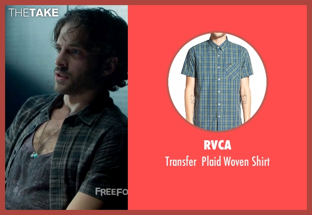 RVCA green shirt from Guilt seen with Luc Pascal (Zachary Fall)
