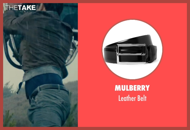 Mulberry black belt from The Man from U.N.C.L.E. seen with Luca Calvani (Alexander)