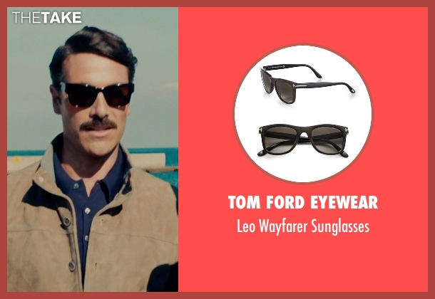 Tom Ford Eyewear black sunglasses from The Man from U.N.C.L.E. seen with Luca Calvani (Alexander)