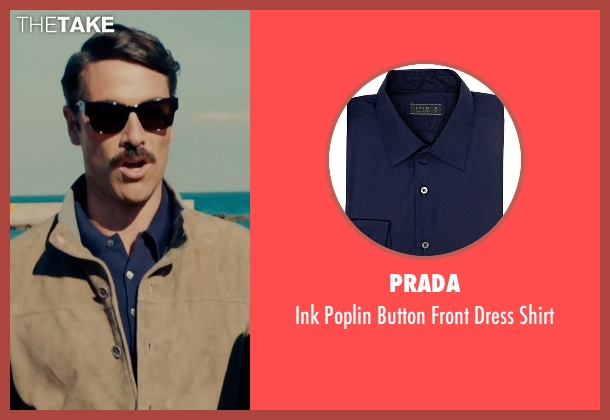 Prada blue shirt from The Man from U.N.C.L.E. seen with Luca Calvani (Alexander)