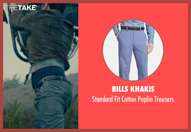 Bills Khakis blue trousers from The Man from U.N.C.L.E. seen with Luca Calvani (Alexander)