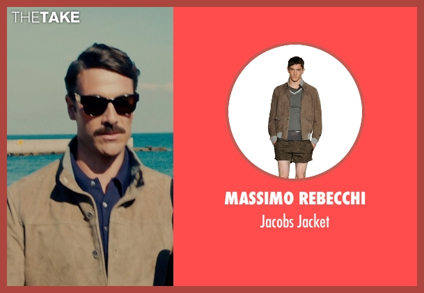 Massimo Rebecchi brown jacket from The Man from U.N.C.L.E. seen with Luca Calvani (Alexander)