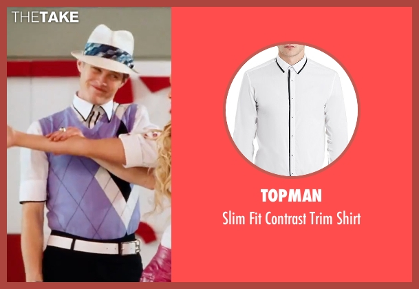 Topman white shirt from High School Musical 3: Senior Year seen with Lucas Grabeel (Ryan Evans)