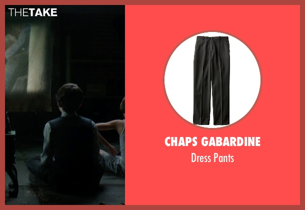 Chaps Gabardine black pants from Sinister 2 seen with Lucas Jade Zumann (Milo)