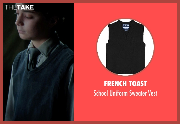 French Toast black vest from Sinister 2 seen with Lucas Jade Zumann (Milo)