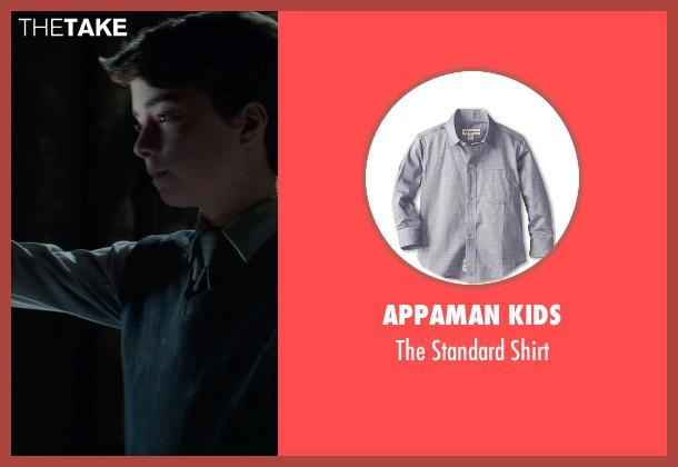 Appaman Kids gray shirt from Sinister 2 seen with Lucas Jade Zumann (Milo)