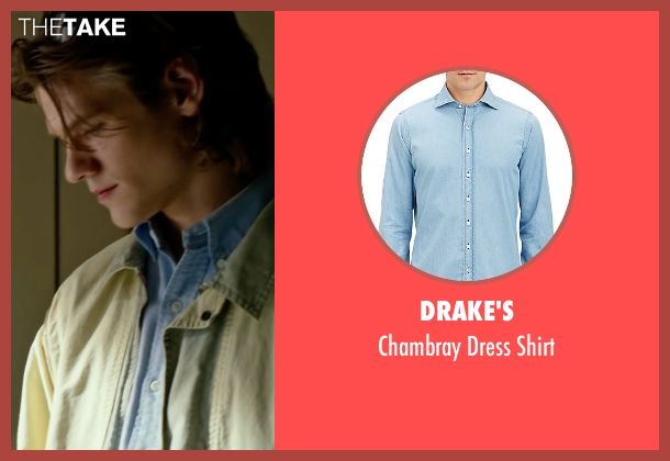 Drake's blue shirt from X-Men: Apocalypse seen with Lucas Till (Alex Summers / Havok)