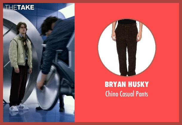 Bryan Husky brown pants from X-Men: Apocalypse seen with Lucas Till (Alex Summers / Havok)