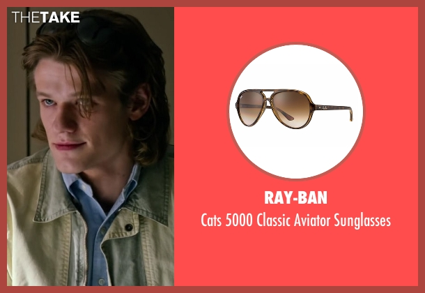 Ray-Ban brown sunglasses from X-Men: Apocalypse seen with Lucas Till (Alex Summers / Havok)
