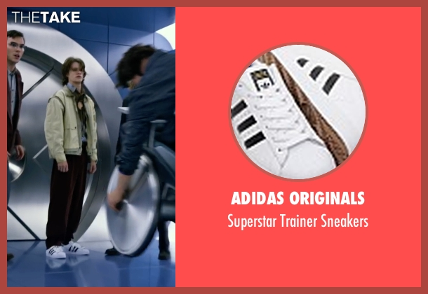 Adidas Originals white sneakers from X-Men: Apocalypse seen with Lucas Till (Alex Summers / Havok)