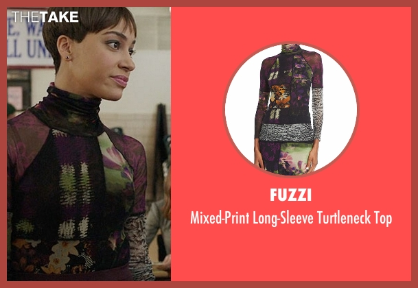 Fuzzi purple top from The Good Fight seen with Lucca Quinn  (Cush Jumbo)