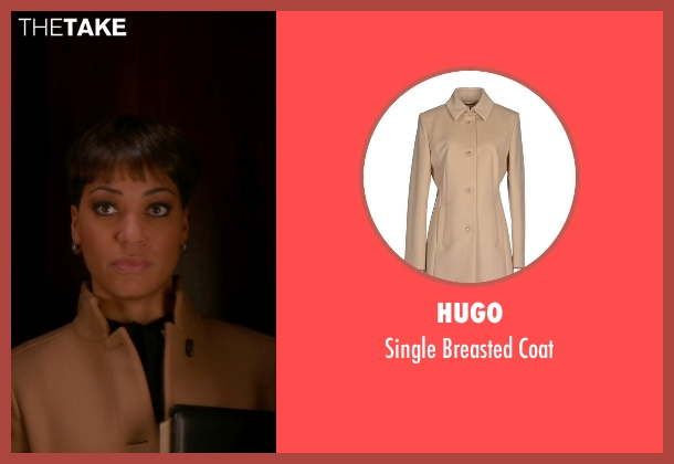 Hugo beige coat from The Good Wife seen with Lucca Quinn  (Cush Jumbo)
