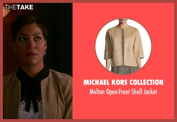 Michael Kors Collection beige jacket from The Good Wife seen with Lucca Quinn  (Cush Jumbo)