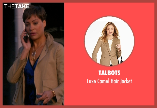Talbots beige jacket from The Good Wife seen with Lucca Quinn  (Cush Jumbo)
