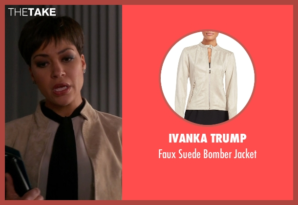 Ivanka Trump beige jacket from The Good Wife seen with Lucca Quinn  (Cush Jumbo)