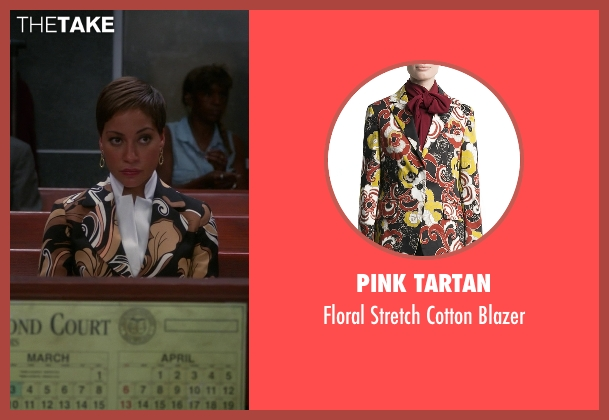 Pink Tartan black blazer from The Good Wife seen with Lucca Quinn  (Cush Jumbo)