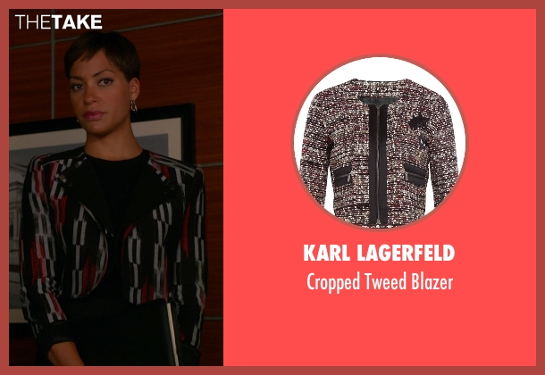 Karl Lagerfeld black blazer from The Good Wife seen with Lucca Quinn  (Cush Jumbo)