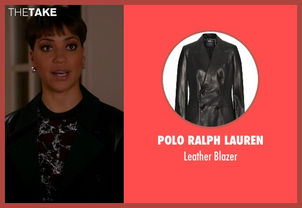 Polo Ralph Lauren black blazer from The Good Wife seen with Lucca Quinn  (Cush Jumbo)