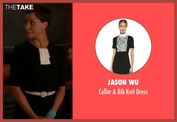 Jason Wu black dress from The Good Wife seen with Lucca Quinn  (Cush Jumbo)