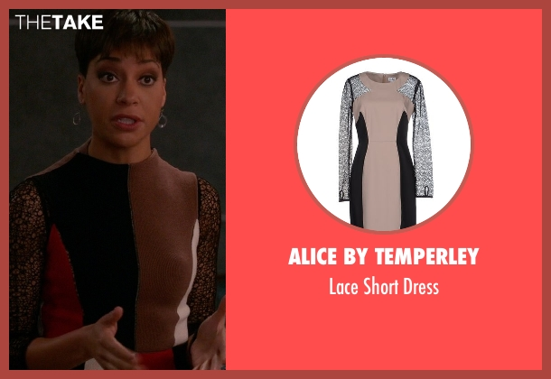 Alice By Temperley black dress from The Good Wife seen with Lucca Quinn  (Cush Jumbo)
