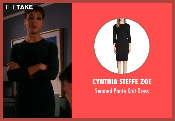 Cynthia Steffe Zoe black dress from The Good Wife seen with Lucca Quinn  (Cush Jumbo)