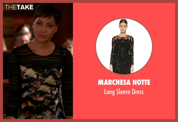 Marchesa Notte black dress from The Good Wife seen with Lucca Quinn  (Cush Jumbo)