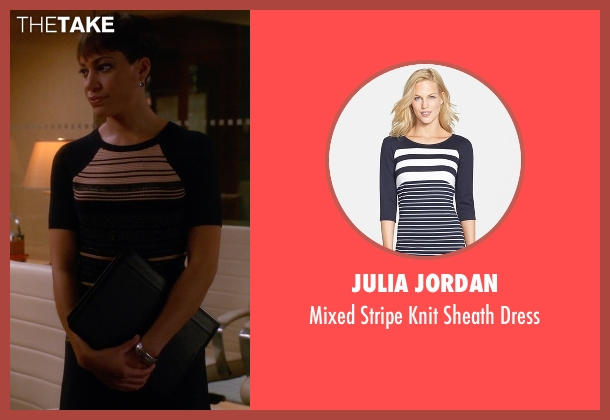 Julia Jordan black dress from The Good Wife seen with Lucca Quinn  (Cush Jumbo)