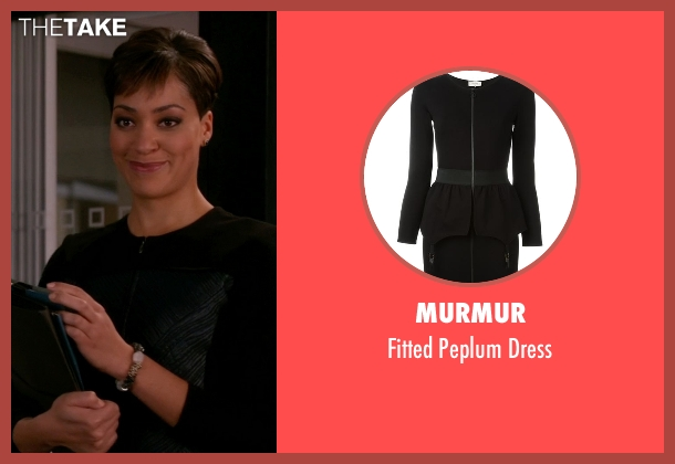 Murmur black dress from The Good Wife seen with Lucca Quinn  (Cush Jumbo)
