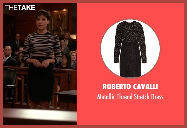 Roberto Cavalli black dress from The Good Wife seen with Lucca Quinn  (Cush Jumbo)