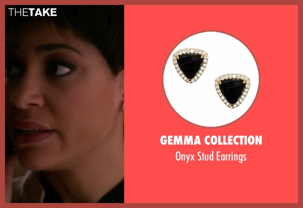 Gemma Collection black earrings from The Good Wife seen with Lucca Quinn  (Cush Jumbo)