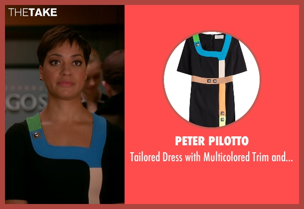 Peter Pilotto black embellishment from The Good Wife seen with Lucca Quinn  (Cush Jumbo)