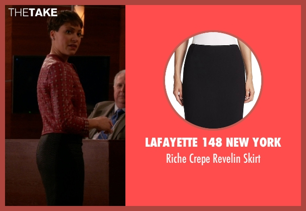 Lafayette 148 New York black skirt from The Good Wife seen with Lucca Quinn  (Cush Jumbo)