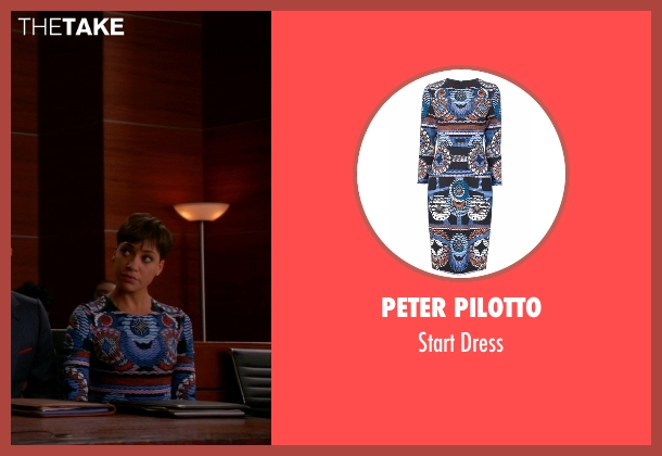 Peter Pilotto blue dress from The Good Wife seen with Lucca Quinn  (Cush Jumbo)