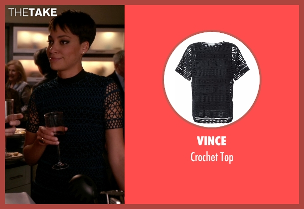 Vince blue top from The Good Wife seen with Lucca Quinn  (Cush Jumbo)