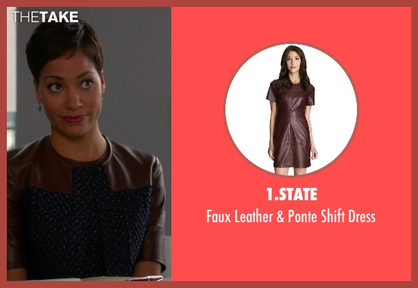 1.State brown dress from The Good Wife seen with Lucca Quinn  (Cush Jumbo)