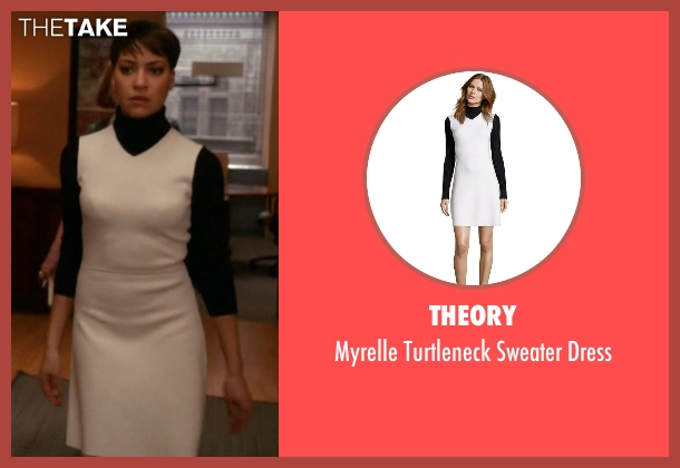 Theory dress from The Good Wife seen with Lucca Quinn  (Cush Jumbo)