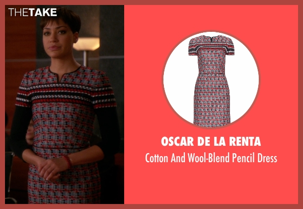 Oscar De La Renta dress from The Good Wife seen with Lucca Quinn  (Cush Jumbo)