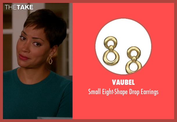 Vaubel gold earrings from The Good Wife seen with Lucca Quinn  (Cush Jumbo)