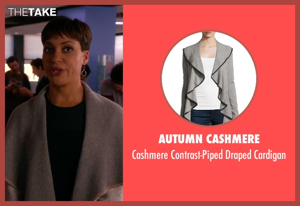 Autumn Cashmere gray cardigan from The Good Wife seen with Lucca Quinn  (Cush Jumbo)