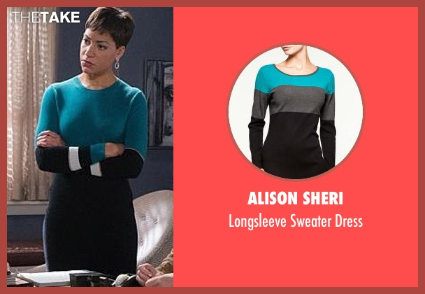Alison Sheri green dress from The Good Wife seen with Lucca Quinn  (Cush Jumbo)