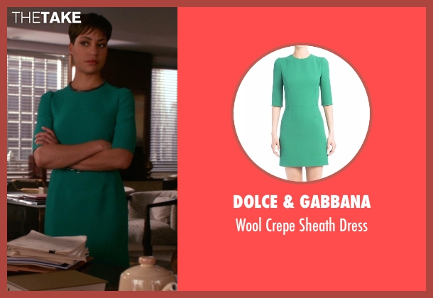 Dolce & Gabbana green dress from The Good Wife seen with Lucca Quinn  (Cush Jumbo)