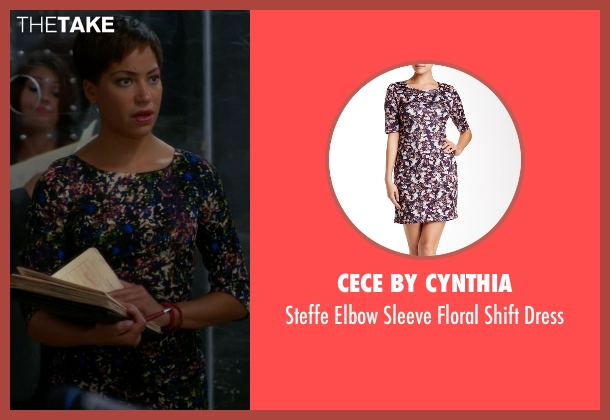 CeCe by Cynthia purple dress from The Good Wife seen with Lucca Quinn  (Cush Jumbo)