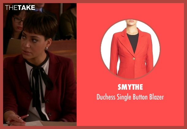 Smythe red blazer from The Good Wife seen with Lucca Quinn  (Cush Jumbo)